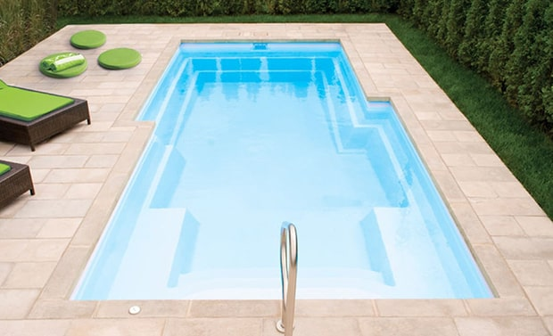 piscine creusée en fibre de verre fiberglass inground pool